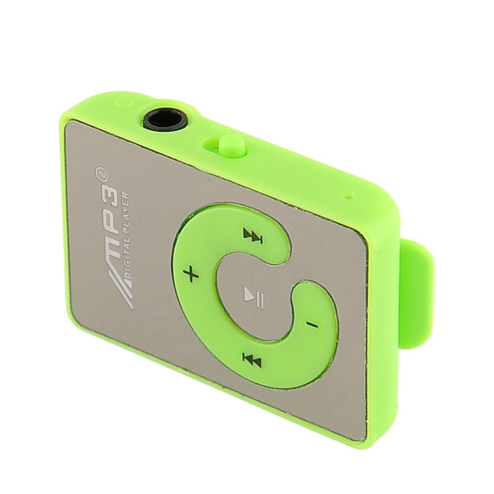 With 8G TF Card Clips Mp3 Player Mini Portable Micro SD Fashion Coloful Mp3 music player USB Data Mirror Surface sw41003