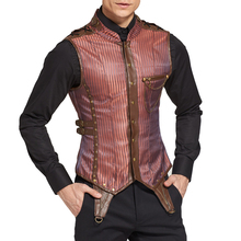 Fashion Men Slim 8 Steel Boned Brown One Pocket Lace Body Shaper