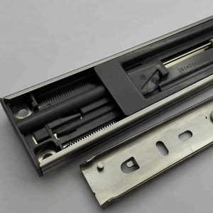 High Temperature Buffer Damping Hydraulic Soft Close Drawer Slide 3 Folds Telescopic Stainless Steel Drawer Slide Channel Rails