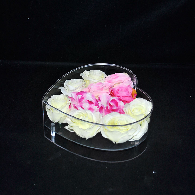 High quality custom design acrylic flower storage box