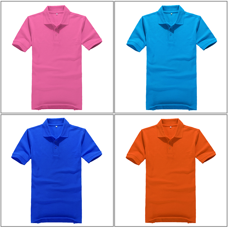 Men's t shirt eco-friendly blank t-shirt purple / black /blue/ yellow polo t shirt for middle-aged man