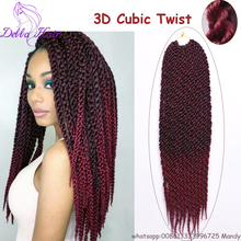 "3D Cubic Twist Crochet Braids 18"" 12strands/pack Crochet Braid Hair Extension 4X Havana Mambo Twist"