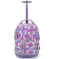 hot design carry on multifunction 1200D lovely character kids school trolley backpack
