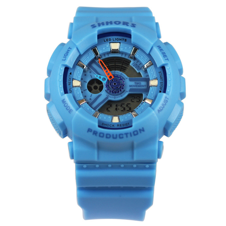 2019 Fashion Multifunctional Waterproof Watch Colorful LED Analog-Digital Sports Watches