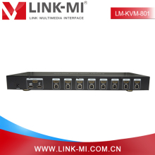 LINK-MI LM-KVM801 Auto HDMI Interface 8 Port USB KVM Switch 8X1 without any delay