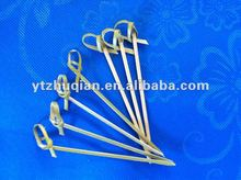 disposable knotted bamboo skewers/picks/sticks manufaturers in China