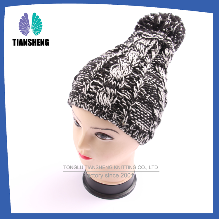 2016 Customize high quality embroidery beanie hat,embroidered knitted,crochet hat for women and design you logo lady winter hat
