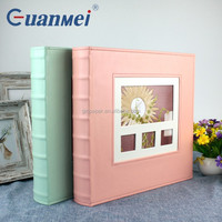 GuanMei Post Bound Multiple Sheet 5up 5R PP Photo Album With Leather Cover 500 Photos