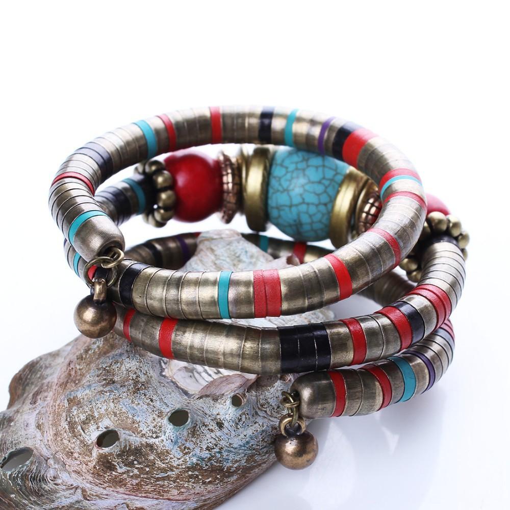 חם תכשיטים טיבטי צמיד כסף טורקיז שיבוץ עגלגלות חרוז התאם צמיד B02291