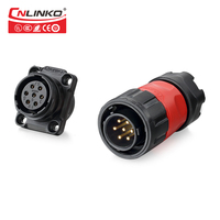 Waterproof Car Jack Cable Connector Terminal 7 Pin Speaker Wire Connectors