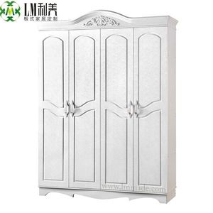 Elegant wardrobes,white four door wardrobes,mdf furniture