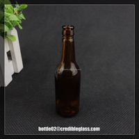 mini 25ml empty decorative glass beer bottle wholesale for christmas festival