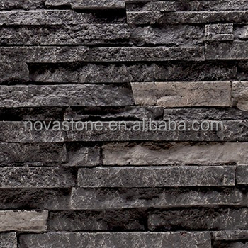Polyurethane Easy Install Faux Stacked Stone Wall Panel