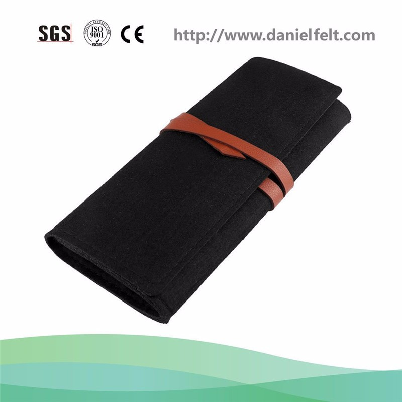 Felt bound to pen bag Creative contracted students stationery pencil case receive bag