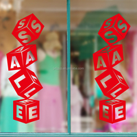New arrival modern design creative quote sale shop glass window decal with best price