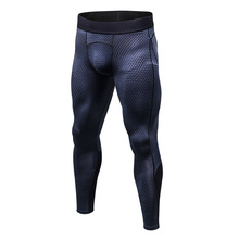 2018 Men 3D Printed Sport Leggings Elastic Compression Tights