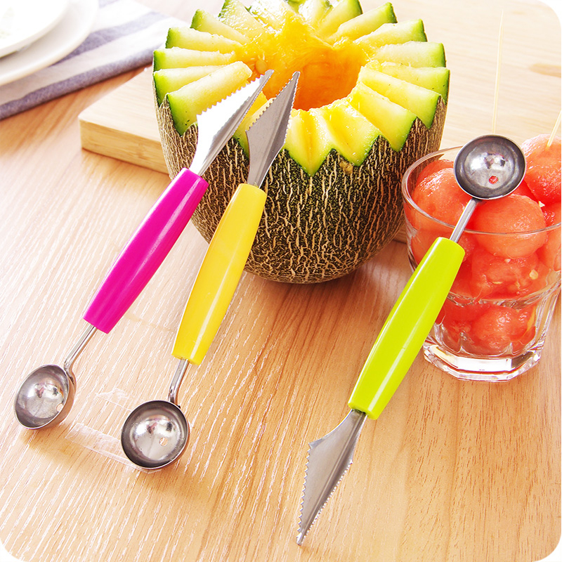 Double headed stainless steel Carving knife dig ball