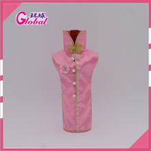 Global fashion cotton bag for wine bottle with traditional Chinese style