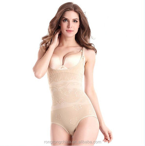 2016 News Womens Slimming Bamboo Underbust Shapewear Shaper Suit Body Control Bodysuit