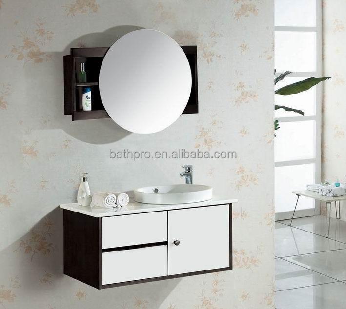 Moderne 2015 Nouveau Design Miroir Rond Hôtel Salle De Bain Vanité Armoire  - Buy Meuble De Vanité De Salle De Bains,Meuble De Vanité De Bain ...