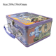 Practical decorative insulated metal lunch thermal box food storage container packaging box with handle and lock