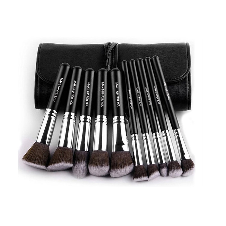 Free Sample Black 10pcs Private Label Cosmetic Makeup