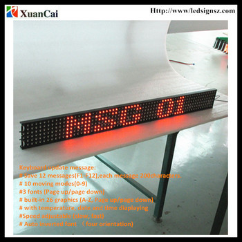 12/24V Brazil Keyboard P14-6x64 Orange SMD in super brightness Bus LED screen