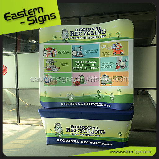 6ft Advertising Curved Fabric Wall System