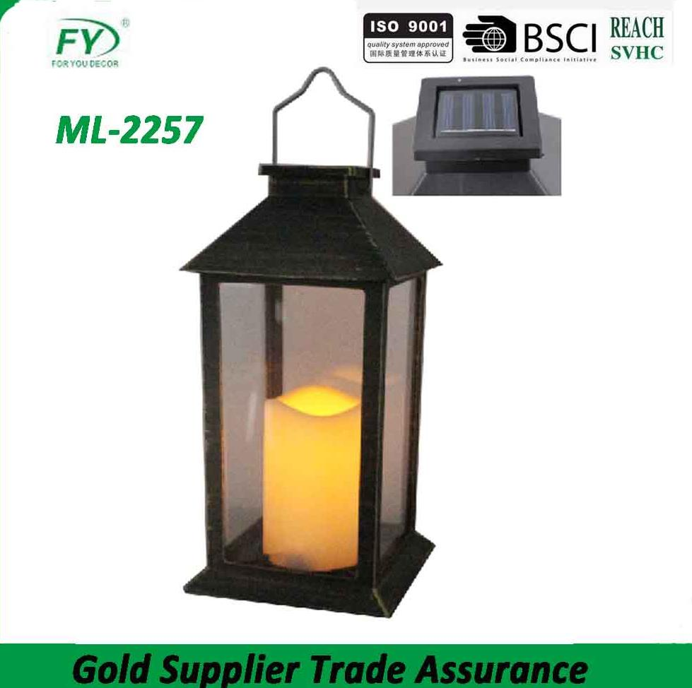 The top with solar panel outdoor garden decoration plastic solar lantern