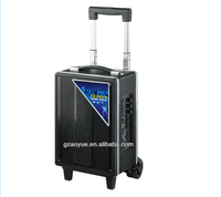 6.5 inches guitar amplifier speakers portable karaoke player with handle and wheels (B-6)
