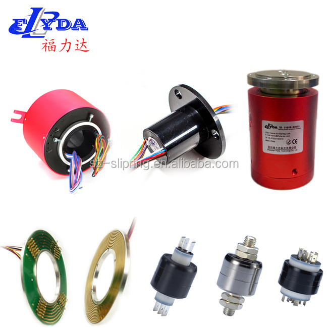 18 wires through hole slip rings, shaft hollow slip rings
