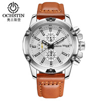 2017 New Brand Waterproof Watches Japan Movt Quartz Leather Strap Mens Wrist Watches