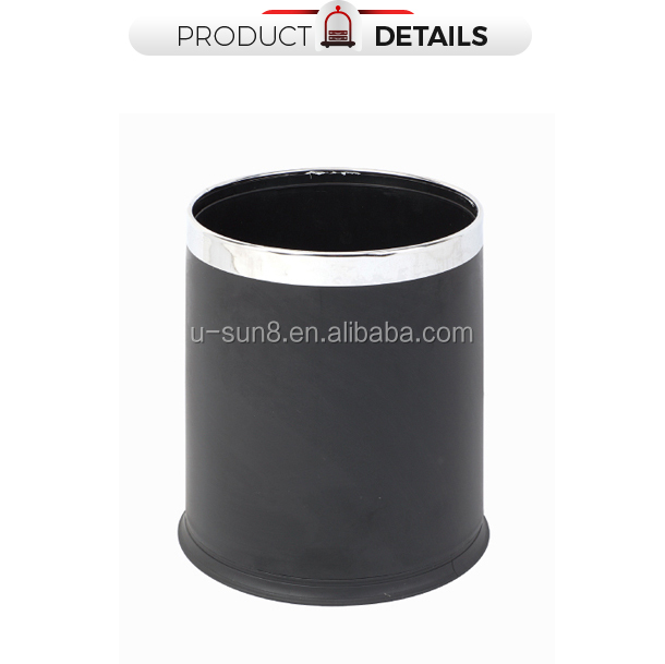 Hotel Room Pp Plastic Recycling Dustbin Dual Layer Office Trash Can Coomercial Rubbish Bin