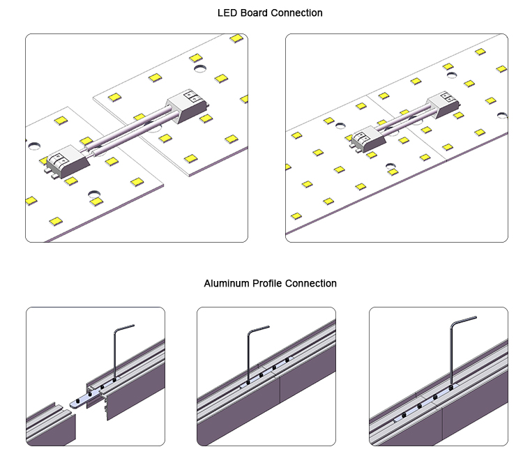 Customized 1710 surface mounted aluminium LED channel light extrusion profile accessories
