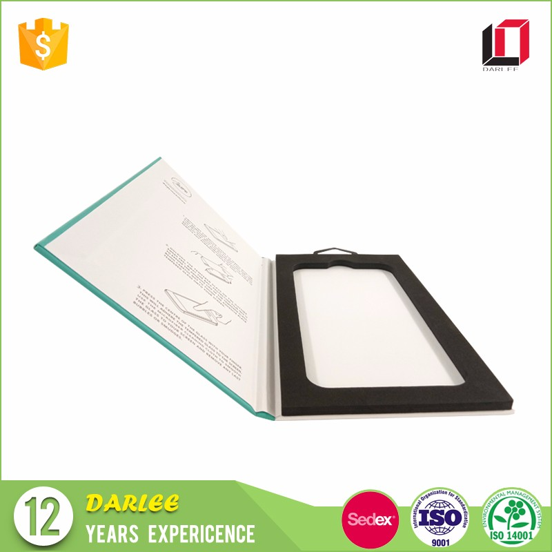 Professional OEM luxury phone film custom retail screen protector packaging paper box for tempered glass