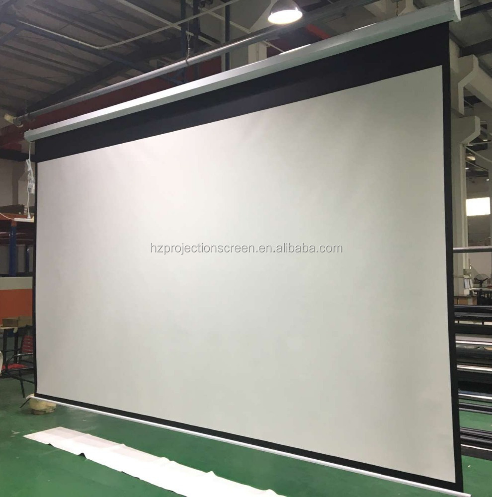 4K Electric projection screen high gain screen fabric for projector motorized projector screen