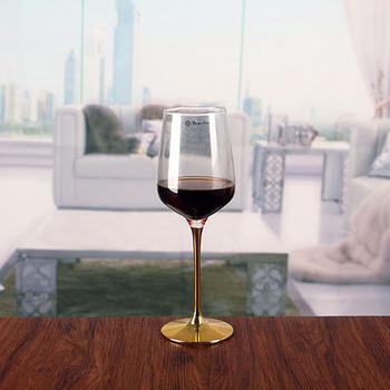 copper stem wine glasses crystal wine tumbler glass goblet in bulk