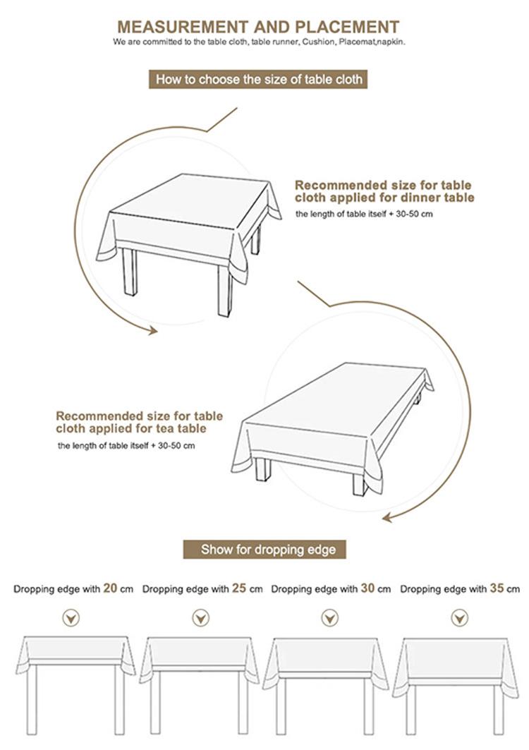 Nabis más práctico moderno impreso planta tejida comprar mantel para fiesta