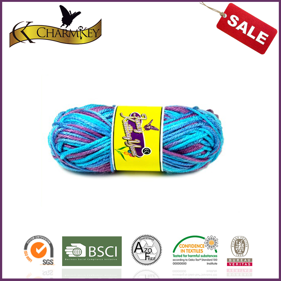 2015 Charmkey knitting yarns book Acrylic yarn recycled yarn for hand knitting scarf