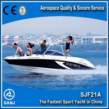 Fiberglass High Speed Runabout Boat Affordable Power