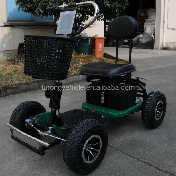 The thumb operation Electric golf carts with Single seat