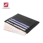 Black Wallet Card Wallet Black RFID Leather Card Holder Wallet Slim