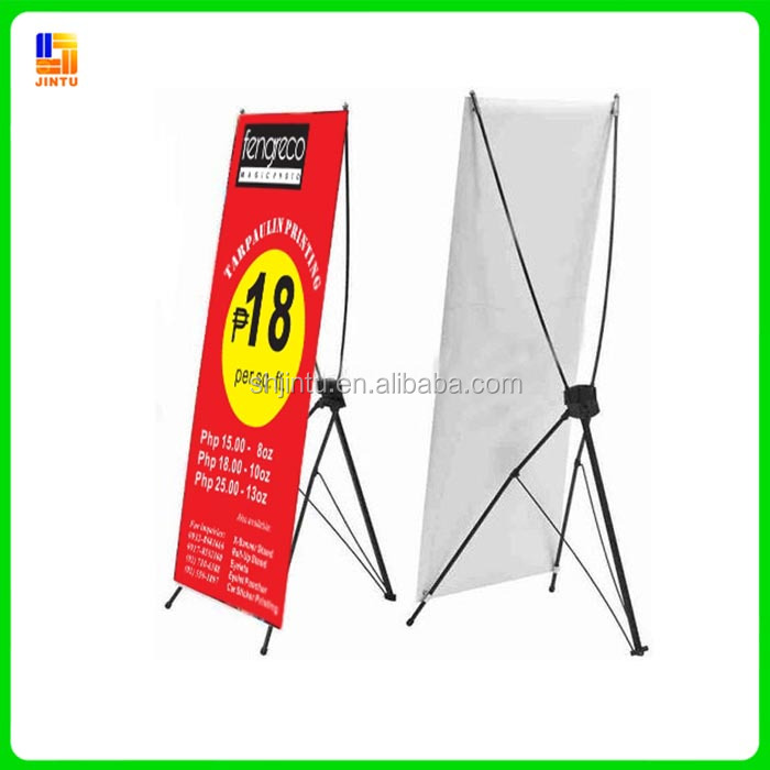 Indoor outdoor store shop supper market trade show advertising display X frame banner stand
