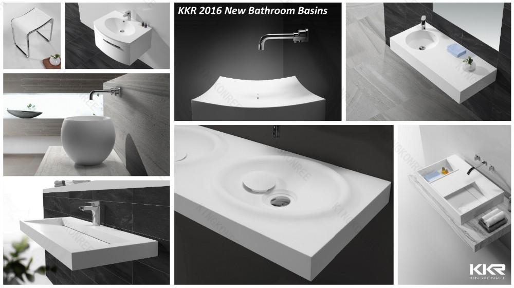 Kingkonree zwart ronde solid surface wastafel kom buy badkamer