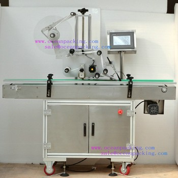 automatic adhesive sticker square bottle labeling machine
