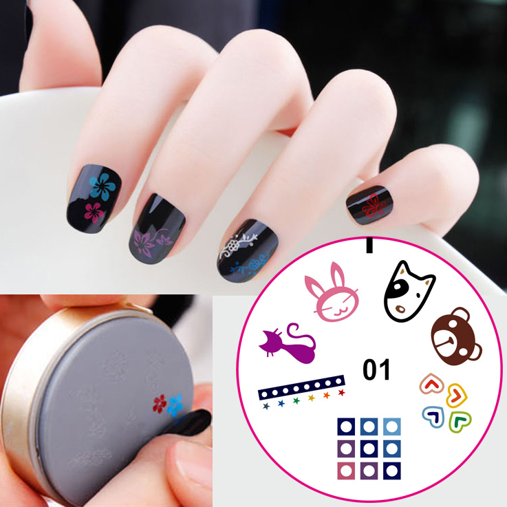 Diy portable nail art image stamp plates polish stamping manicure diy portable nail art image stamp plates polish stamping manicure silicone plate toolsrubber stamp prinsesfo Image collections