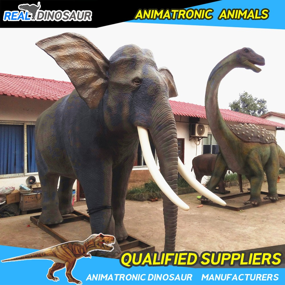 Zoo real size animatronic animal equipment zoo animal model for sale