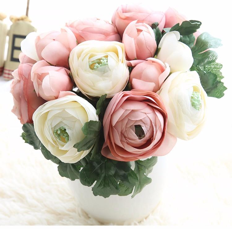 Artificial Silk Ranunculus Flower Bouquet - Buy Artificial Silk ...