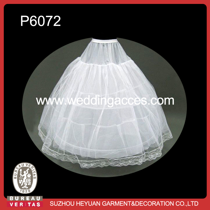 P6072 Puffy Tulle Ball Gown Petticoat for Wedding Dress / Underskirt