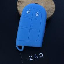 ZAD силиконовый чехол для автомобильного ключа, резиновый чехол для ключей, держатель для Jeep Renegade, для Dodge JCUV, 2 кнопки, пульт дистанционного уп...(Китай)